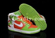 Style Nike Dunk high men in red orange black China wholesale