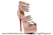 wholesale Christian Louboutin Isolde Gloden 160mm Free shipping, Paypal