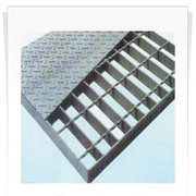 Steel grating and checkered plate composed bar grating