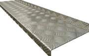Aluminum stair treads give you a safe and trim stairway