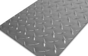 Diamond plate door kick plate gives a clean and undamaged door