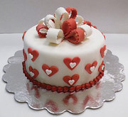 The emotion is best expressed through Cake and Chocolate gift hampers