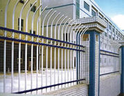 High Security Steel Picket Fencing with Pressed Spear